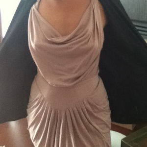 Cowl Neck Dusty Rose Dress