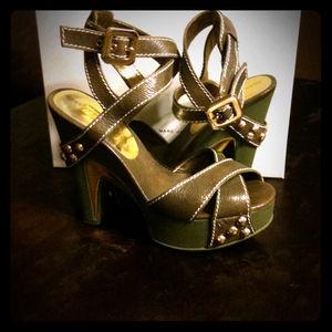 Shoes - BUNDLE Marc by Marc Jacob green & denim wedge