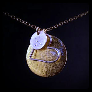 Jewelry - Handstamped Initial Heart Necklace