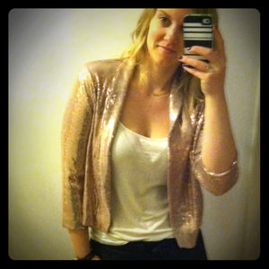 Jackets & Blazers - Rose sequin blazer