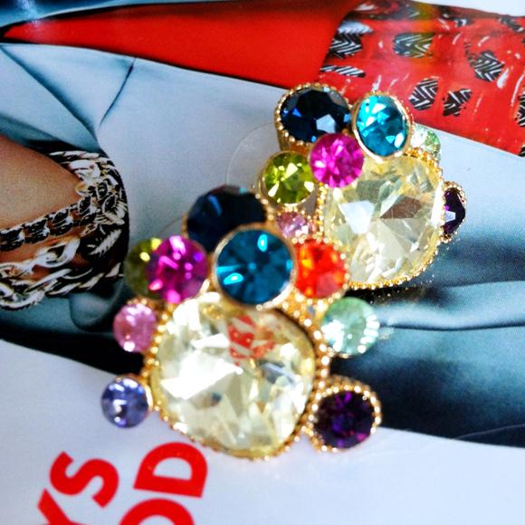 Jewel tone earrings!
