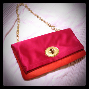 Coach Clutches & Wallets - ✨RESERVED✨Coach satin color block purse
