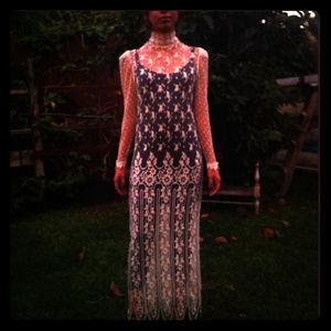 Dresses & Skirts - Beautiful Vintage Lace Evening Dress