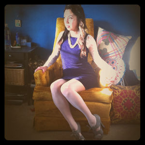 Dresses & Skirts - Vintage royal purple velvet dress
