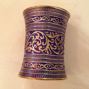 Jewelry - Blue and gold large cuff