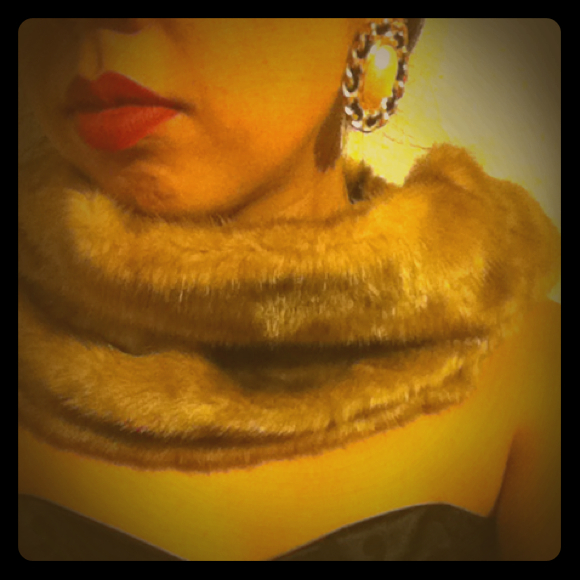 Accessories - Calvin Klein fur necklace