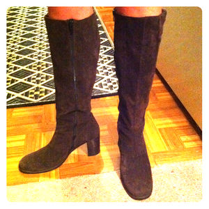 American Eagle Outfitters Boots - SOLD: Knee-high brown suede boots