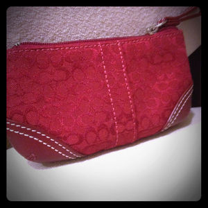 Clutches & Wallets - Reserved!!! Red Coach coin purse