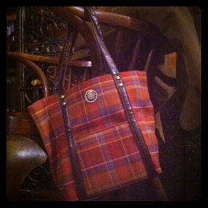 RESERVED: Longaberger plaid tote