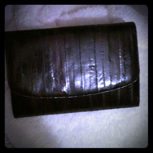 Clutches & Wallets - Eel skin clutch/purse
