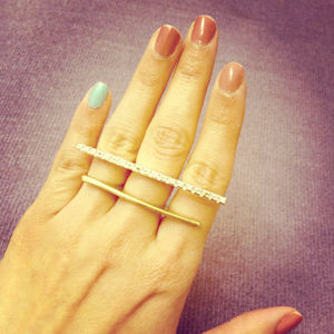 Topshop Jewelry - Triple finger ring
