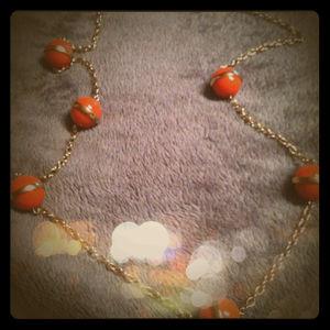 Reduced!!!Papaya Bobble Necklace