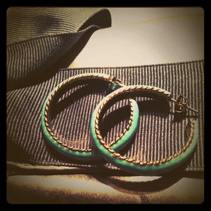 J. Crew Jewelry - New Price! Vintage inspired turquoise earrings
