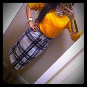Zara Skirts - Plaid Pencil Skirt