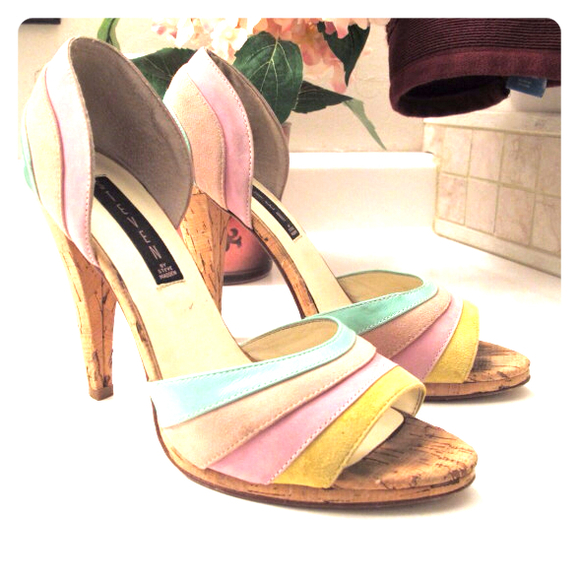 Steven by Steve Madden Shoes - Pastel Striped Steven by Steve Madden Heels