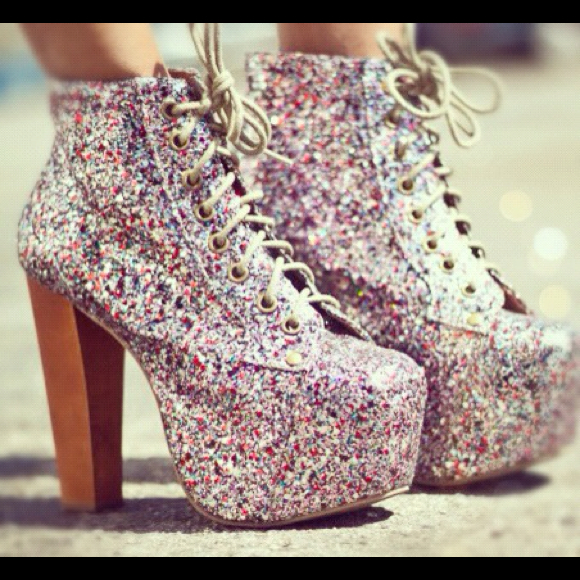 Jeffrey Campbell Boots - (Reseved) Jeffery Campbell multi glitter litas.