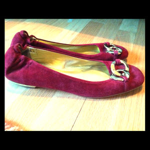 Shoes - **RESERVED**Juicy Couture Envy Suede Ballet Flats