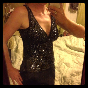 bebe Tops - Beautifule Bebe Sequined Sleeveless Top