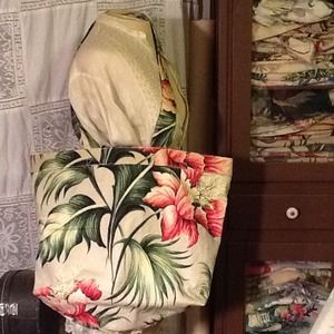 Other - Handmade Floral print day bag or carry-all