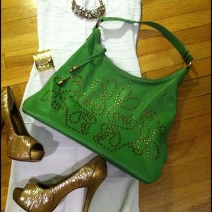 elliott lucca Handbags - Reduced! Spring brights + studs Elliott Lucca bag