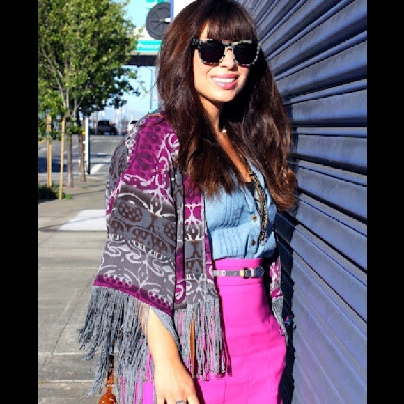 Urban Outfitters Tops - Printed Fringe Throw