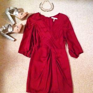 BCBG Burgundy dress