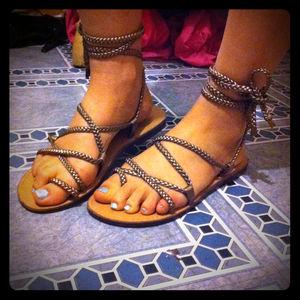 Shoes - Nomi gladiator rope sandals