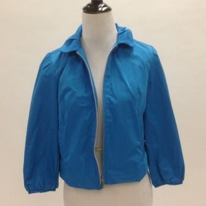 Cobalt blue cropped jacket