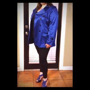 Lisa International Outerwear - 💙Electric Blue Trench Coat