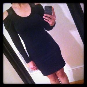 NEW Poleci leather strap Black dress