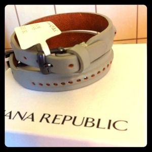 Banana Republic Jewelry - Reserved🔴Brand New✨Leather CuFF Bracelet