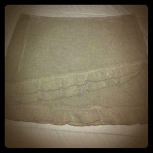 Dresses & Skirts - Sisley black corduroy mini w/ruffled trim