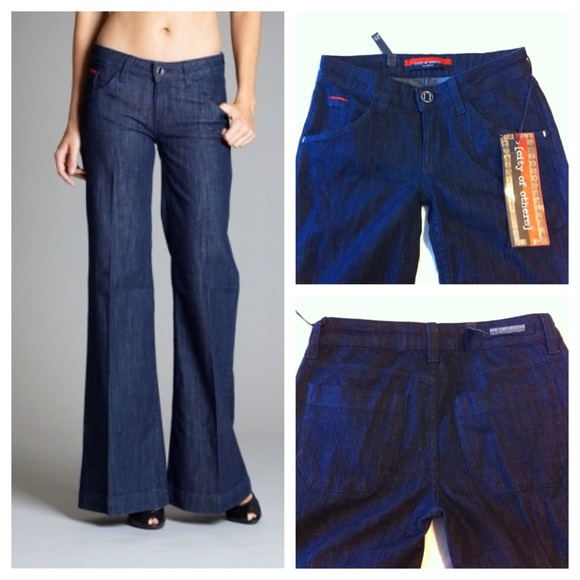 City of Others denim bell bottoms