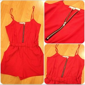 Racy Red Romper! BUNDLE RESERVED for @sweetdoll22
