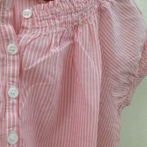 Tops - F21 pink striped top