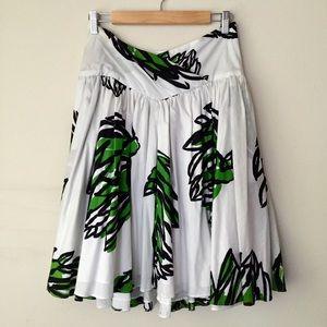 DVF-artichoke print skirt
