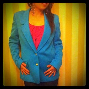 Jackets & Blazers - Reserved for @ysjones- Vintage teal blazer bundle