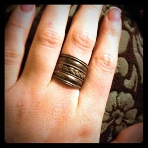Handcrafted Silver Ring With Braided Detail