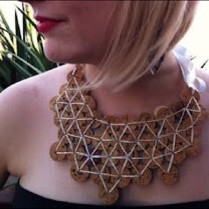 Jewelry - Cork bib necklace. I can custom make diff colors