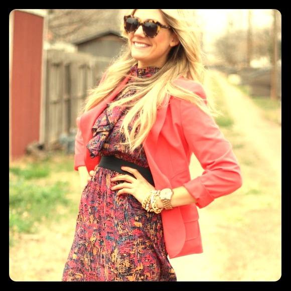 Floral paint print dress