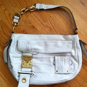 Juicy Couture Handbags - Brand New w/ Tag✨Juicy White Leather Purse