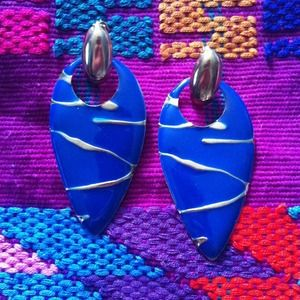 Arrowhead earrings- blue