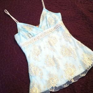 💙Pale blue lacey cami top💙