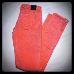 insight Denim - Insight salmon acid wash skinny jeans