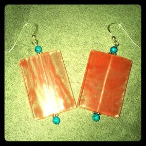 Accessories - ❄💗Handmade rectangle earrings💗