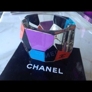 Beautiful art deco CHANEL cuff/bracelet authentic!
