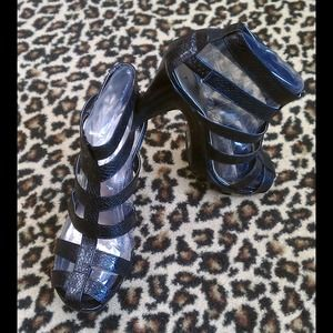 Shoes - Anne Michelle Gladiator cage Platform NEW