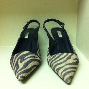 Stripped Leopard Kitten heels