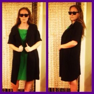 Simply Vera Vera Wang Jackets & Blazers - Black 60's style Car Coat