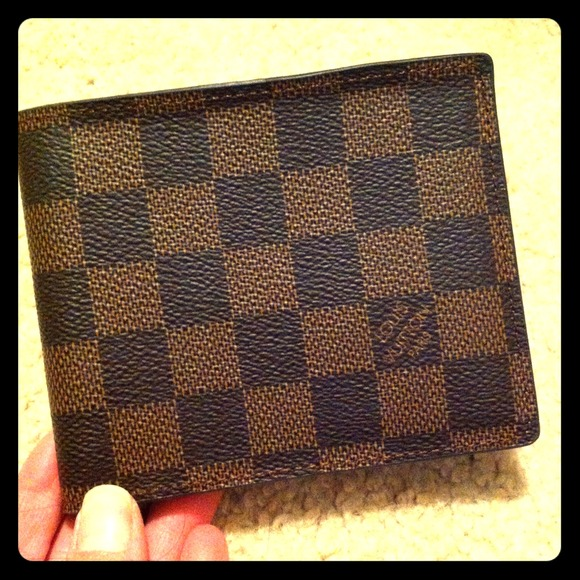 Louis Vuitton Clutches   Wallets - Replica Louis Vuitton Damier Ebene  Unisex Wallet b54ae192c89